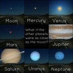 Planets as close as the Moon